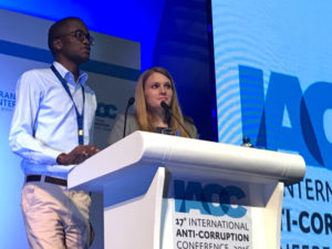 The Panama Declaration is read out by two of the IACC Young Journalists.