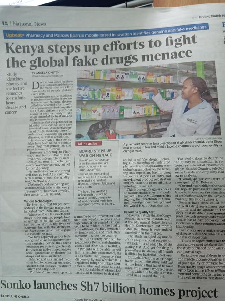 Stepping up the fight against Counterfeit drugs and Medicines