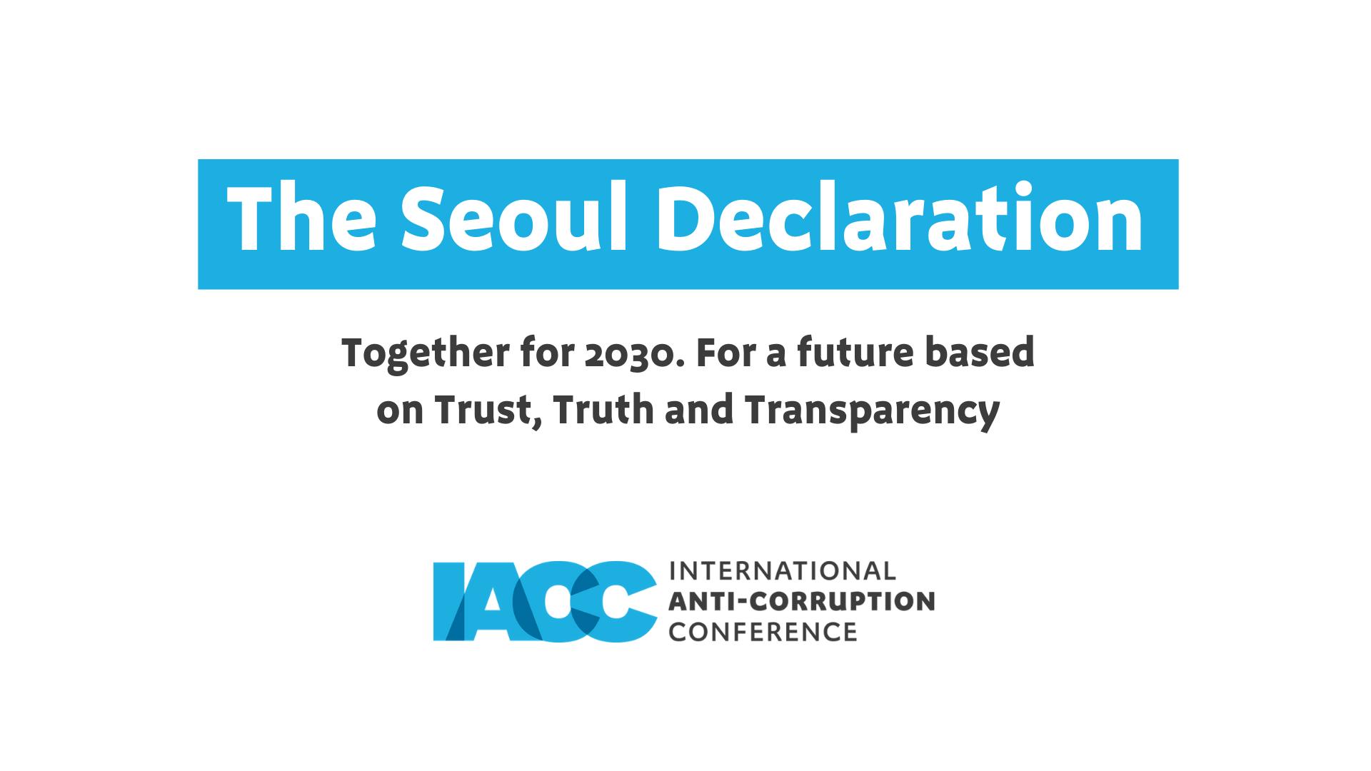 The Seoul Declaration
