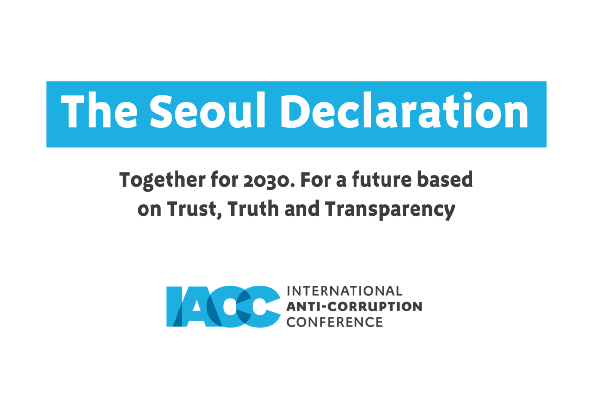 The Seoul Declaration – Together for 2030. For a Future Based on Trust, Truth and Transparency
